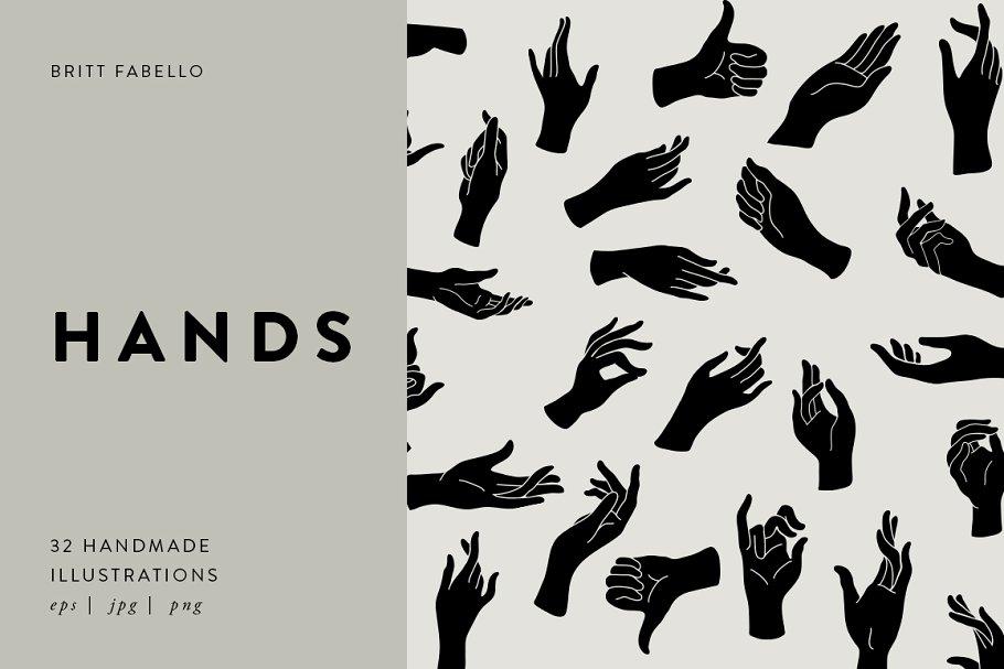 Hands Vector Illustrations