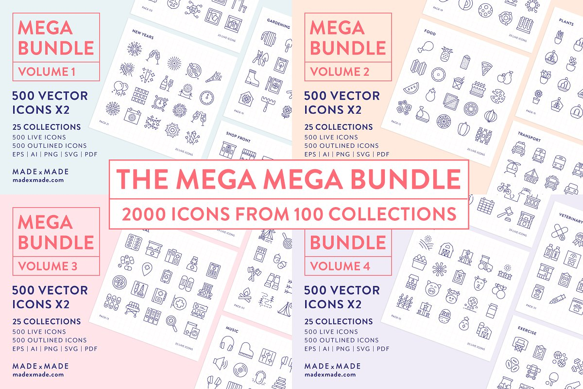 Line Icons Mega Bundle