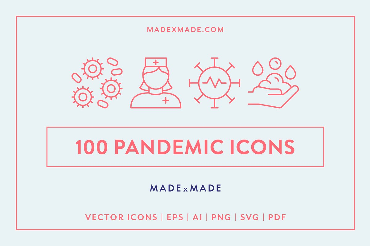 Line Icons Pandemic