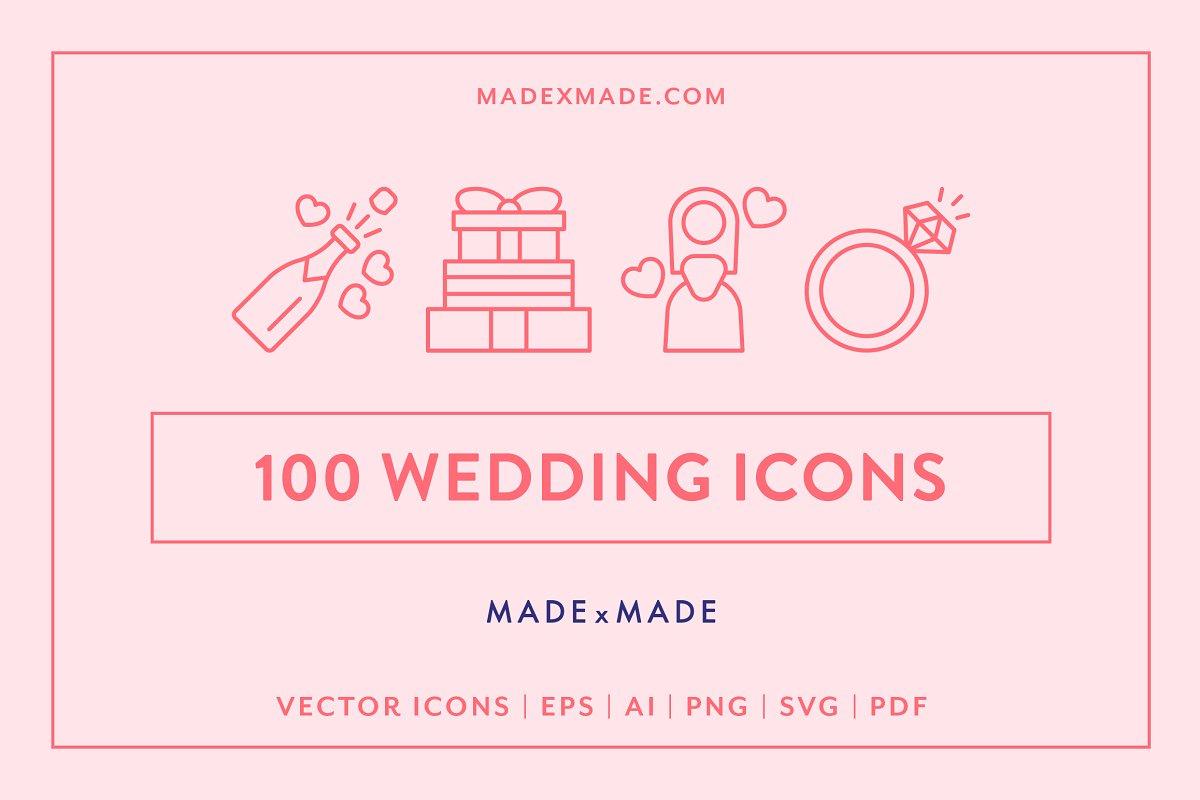 Line Icons Wedding