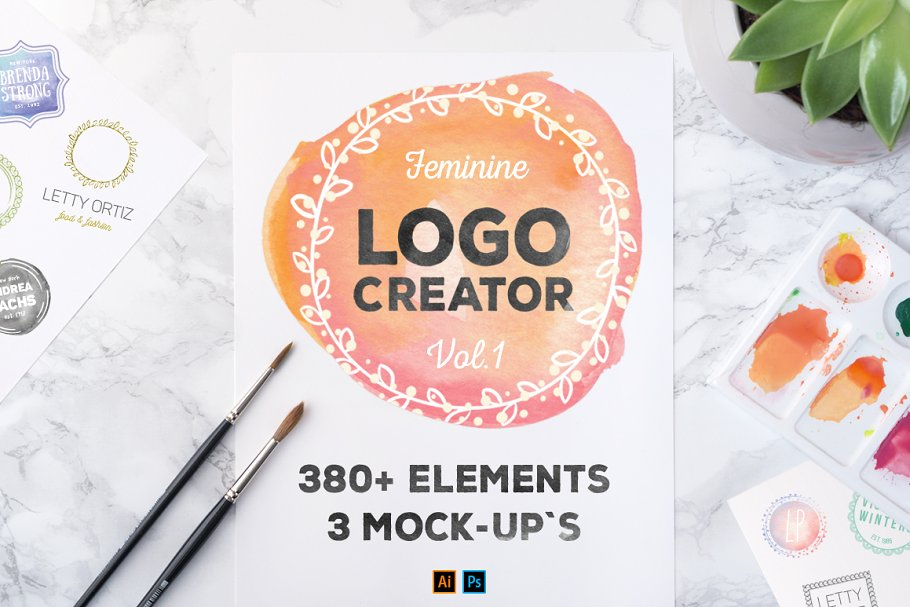 Logocreator 380 Elements & Mock-Ups