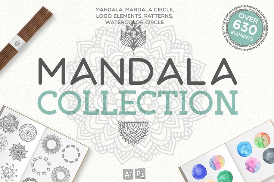 Mandala Collection 630 Elements