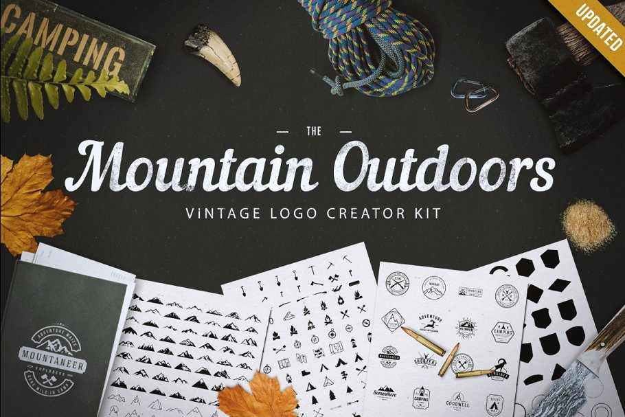Mountain Outdoor Vintage Logo Kit