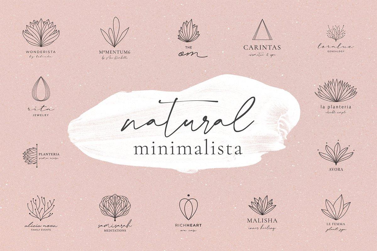 Natural Minimalista Line Art Logos