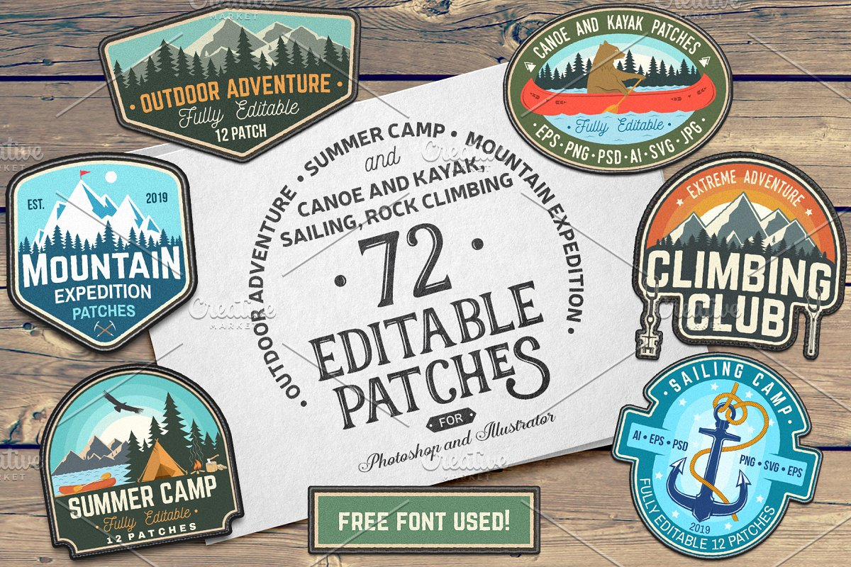 Outdoor Adventure Patches Badges