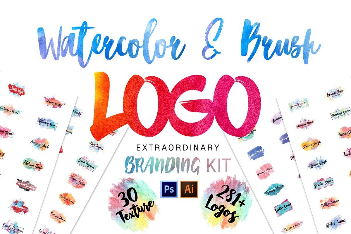 Procreate Brush Logos Branding Kit