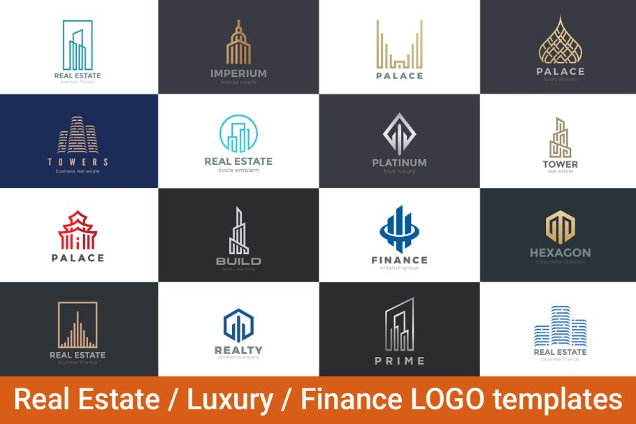 Real Estate Luxury Finance Logos