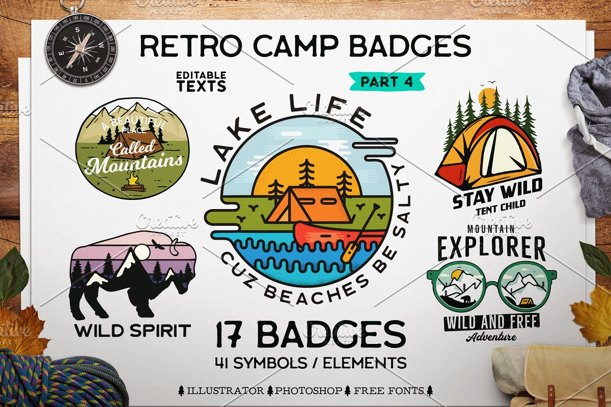 Retro Camp Badges Patches Part 4