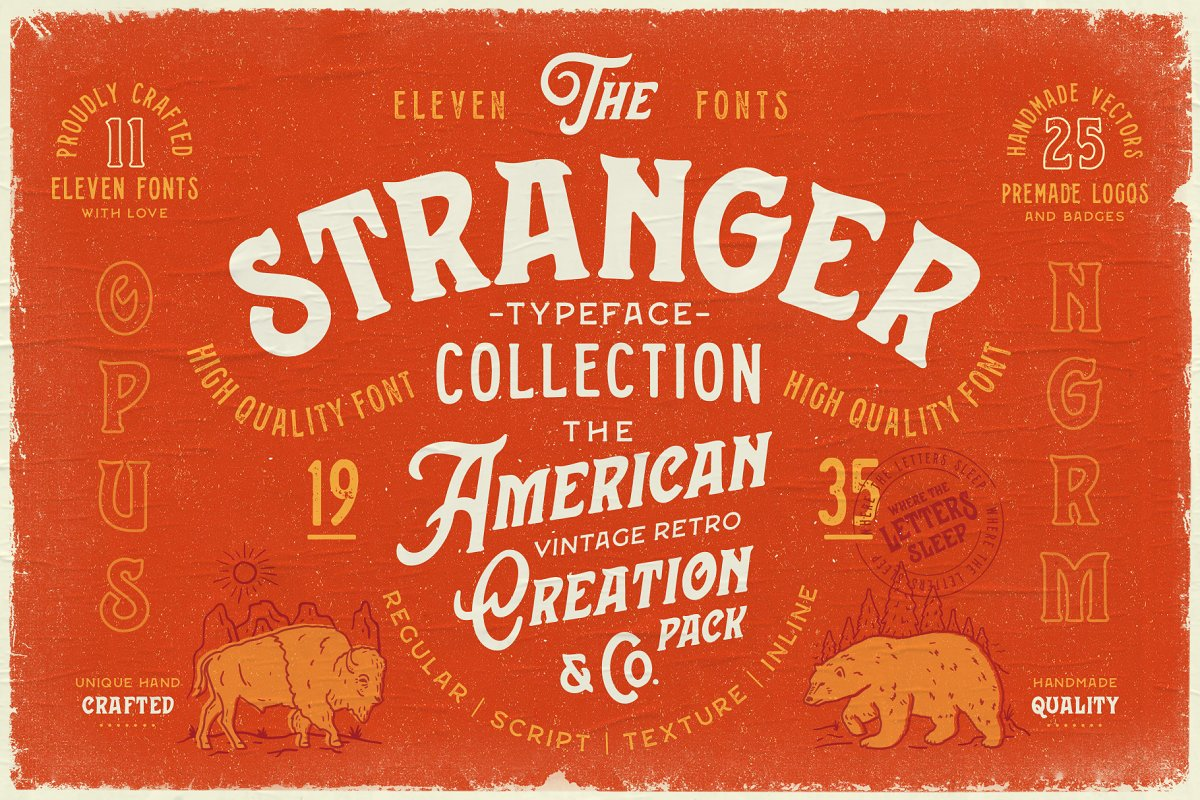 Stranger Font Collection & Extras