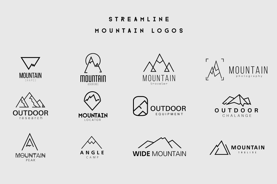 Streamline Mountain Logos