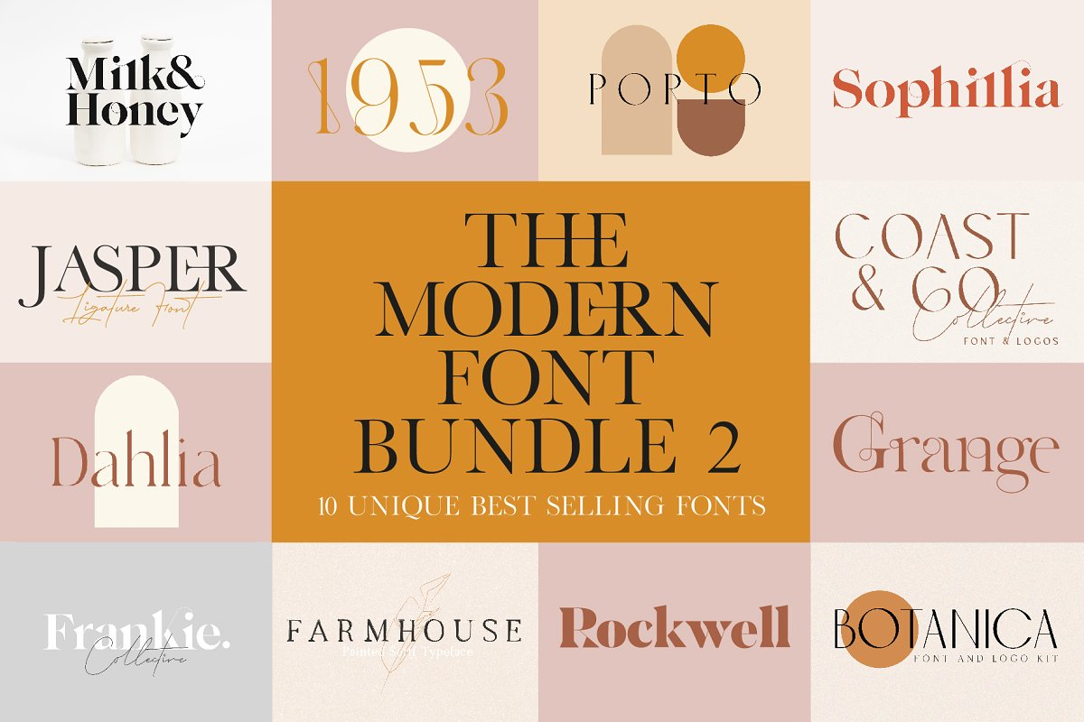 The Modern Font Bundle Vol 2