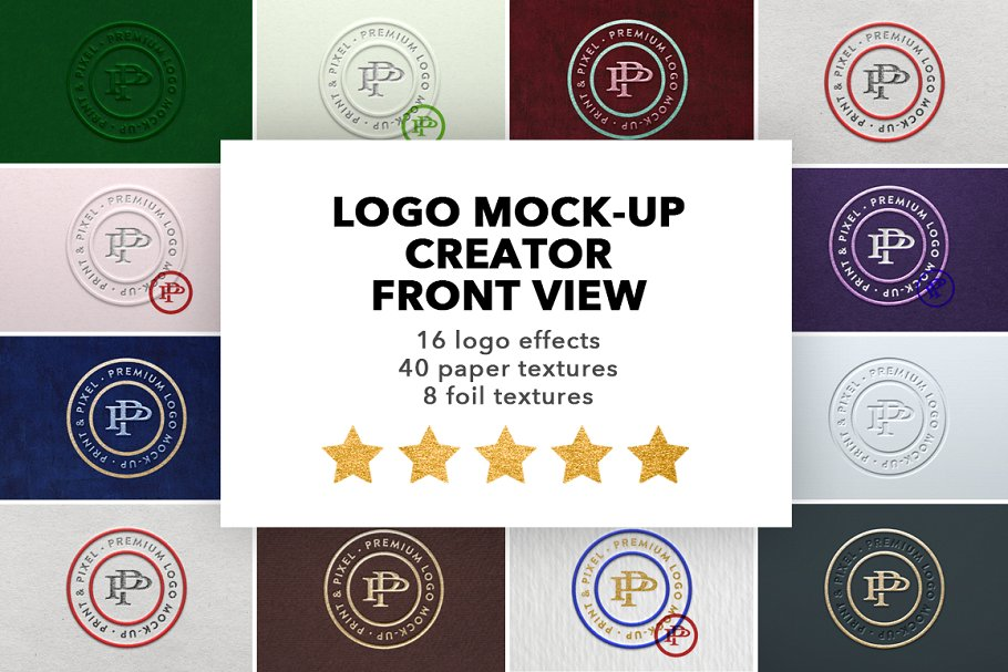Ultimate Logo Mockups Front View