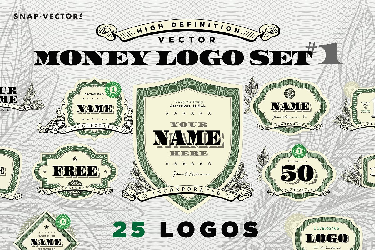 Vector Money Logo Set 1