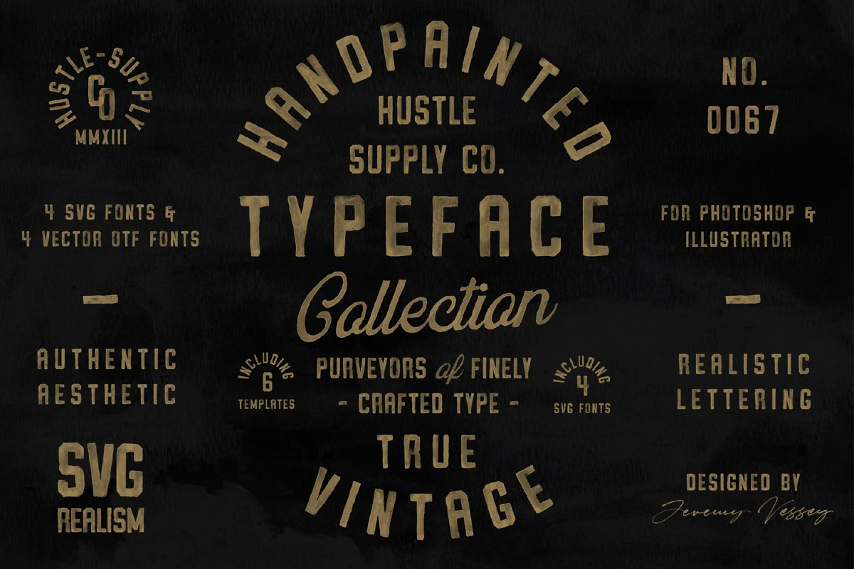 Vintage Svg Bundle & Logo Templates
