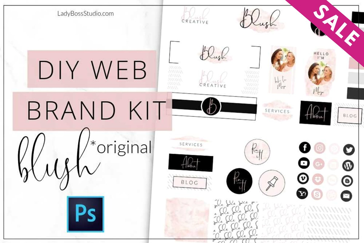Website Branding Kit Original Blush